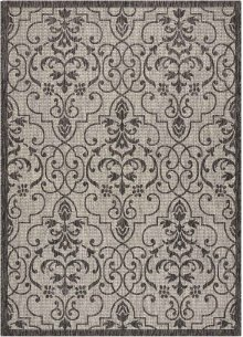 Country Side Ctr04 Ivory/charcoal Rectangle Rug 5'3'' X 7'3''