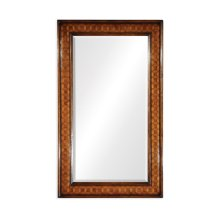 Circular Inlay Rectangular Mirror (Plain Glass)