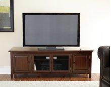 """Clairmont TV Cabinet, Black, 72"""" x 18"""" x 24"""""""
