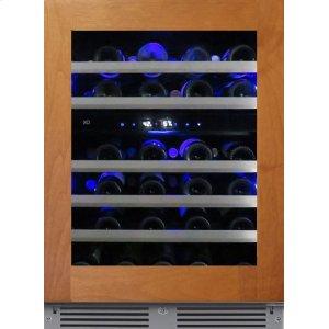 XO APPLIANCE24in Wine Cellar 2 Zone Overlay Glass LH