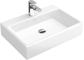 "Washbasin 24"" Surface-mounted (Back of washbasin glazed) Angular - White Alpin CeramicPlus"