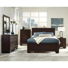 Fenbrook Transitional Dark Cocoa Queen Four-piece Set
