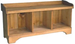 3-Cube Cubby Bench
