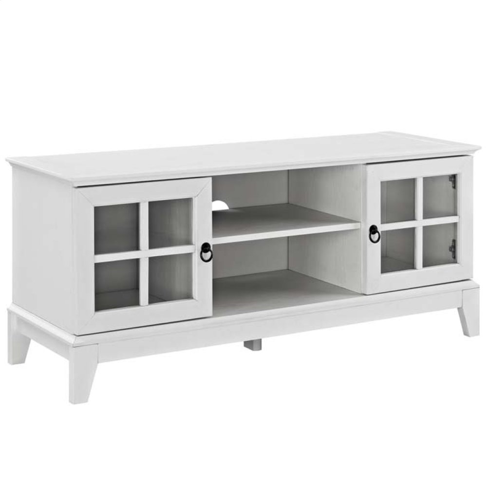 """Isle 47"""" TV Stand in White"""
