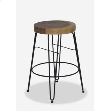 Fiona Counterstool in Iron Legs (14.5x14.5x24) MOQ 2 (package: 2pcs/box) price is per piece