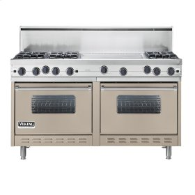 "Taupe 60"" Open Burner Commercial Depth Range - VGRC (60"" wide, six burners 24"" wide griddle/simmer plate)"