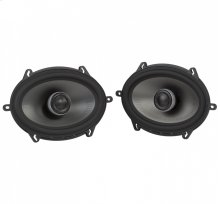 """MM1 Series Premium 5x7"""" Coaxial Speakers with Ultra-Marine Certification in Black and Silver"""