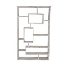 Wooden Multi Tier Wall Shelf,whitewash