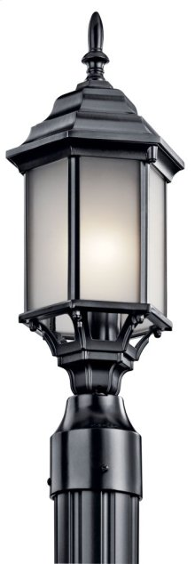 Chesapeake 1 Light Post Light Satin Etched Glass Black