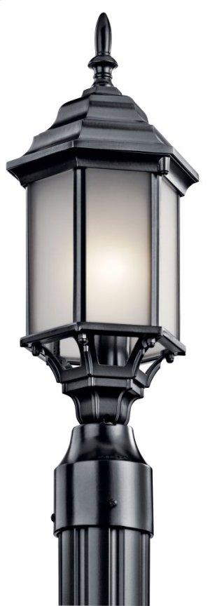 Chesapeake 1 Light Post Light Satin Etched Glass Black