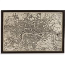 Vintage Map of London Wall Art
