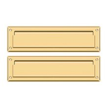 """Mail Slot 13 1/8"""" with Interior Flap - PVD Polished Brass"""