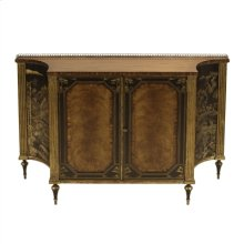 ROSEWOOD CHIFFONIER WITH ANTIQ UE GOLD GILDING AND BLACK CHIN OISERIE MOTIF