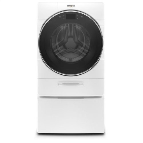 Whirlpool® 5.0 cu.ft. Smart Front Load Washer with Load & Go™ XL Plus Dispenser, 40 Loads - White