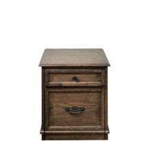 Cordero Mobile File Cabinet Aged Oak finish