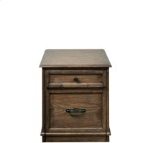 Cordero Mobile File Cabinet Aged Oak finish