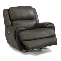 Nance Leather Power Gliding Recliner with Power Headrest Product Image