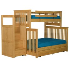 Bunkbed, Tall Twin XL/Queen with Staircase