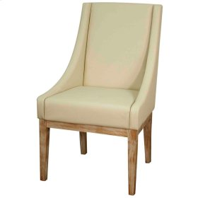 Houston Bonded Leather Chair NWO Leg, Cream