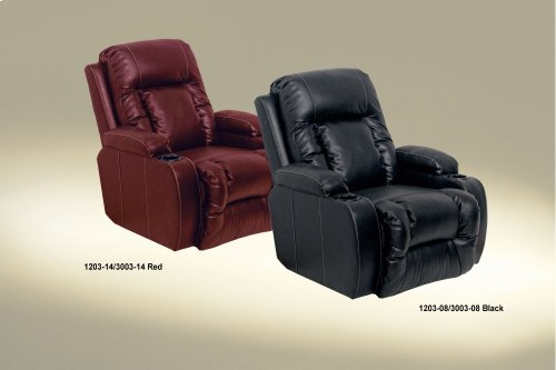 Chaise Inch-Away W/2 Cupholders - Black
