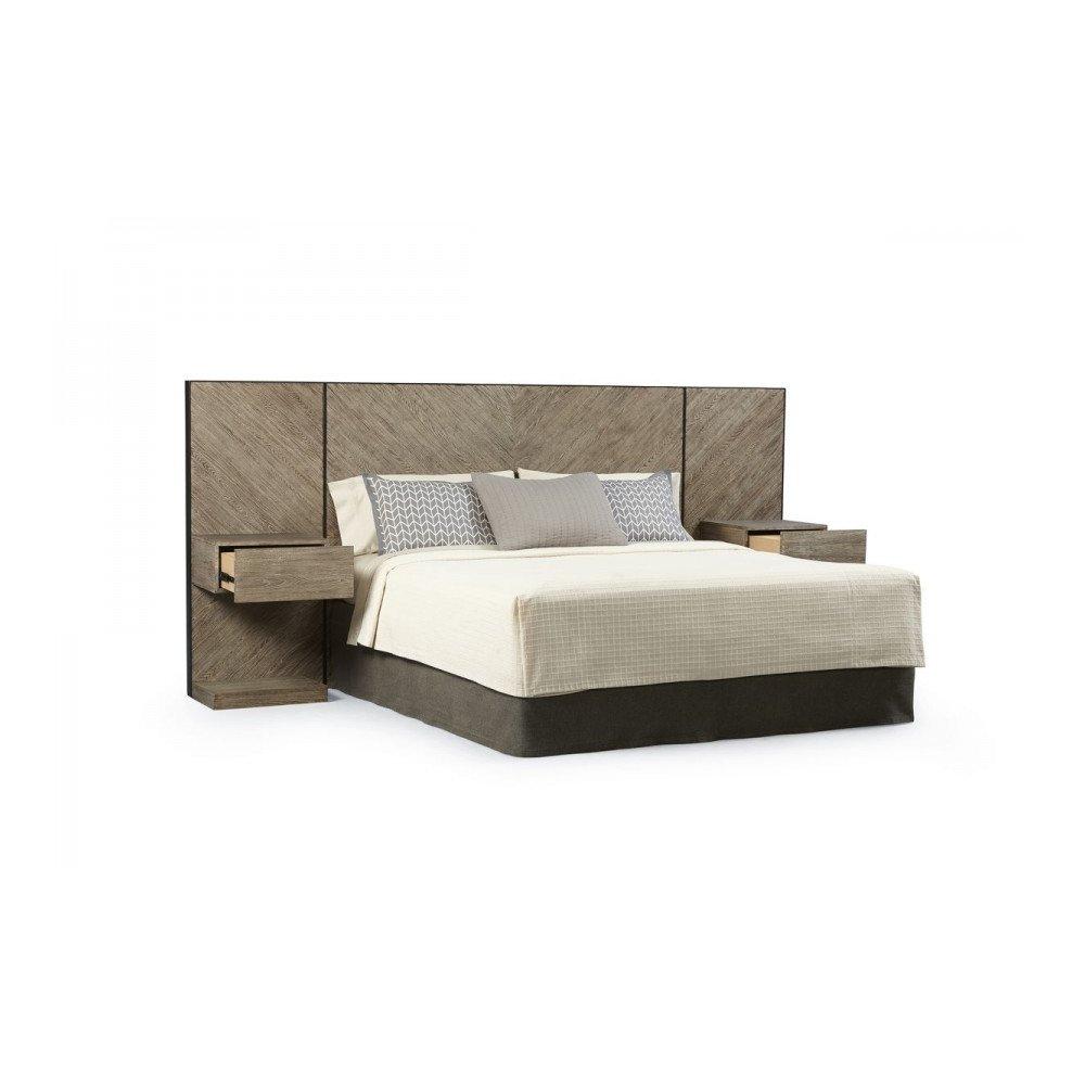 Epicenters Austin Cedar Park Wall Queen Panel Bed with Nightstands
