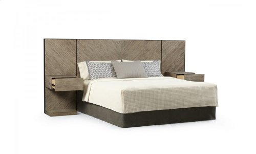 Epicenters Austin Cedar Park Wall Queen Panel Bed with Nightstands