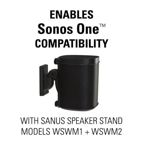 Black Sonos One Compatible Adapter Bracket for the SANUS Wireless Speaker Wall Mount