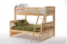 Ginger Twin Full Bunk in Natural Finish