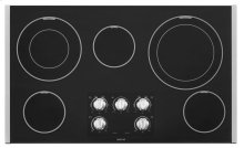 36-inch Wide Electric Cooktop with Dual-Choice Elements