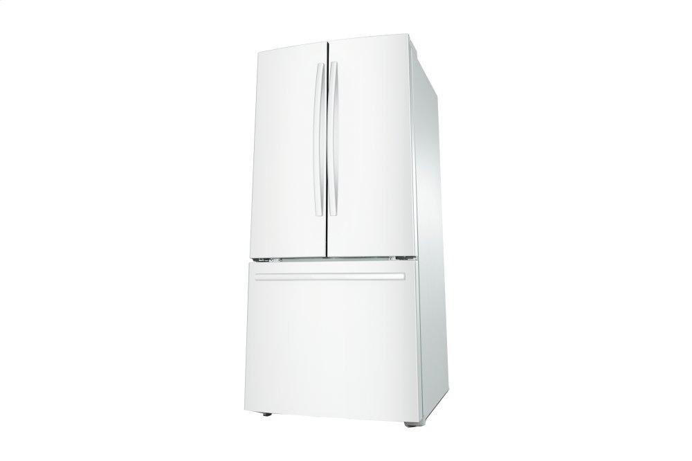 Rf220nctaww Samsung 22 Cu Ft French Door Refrigerator White Hahn