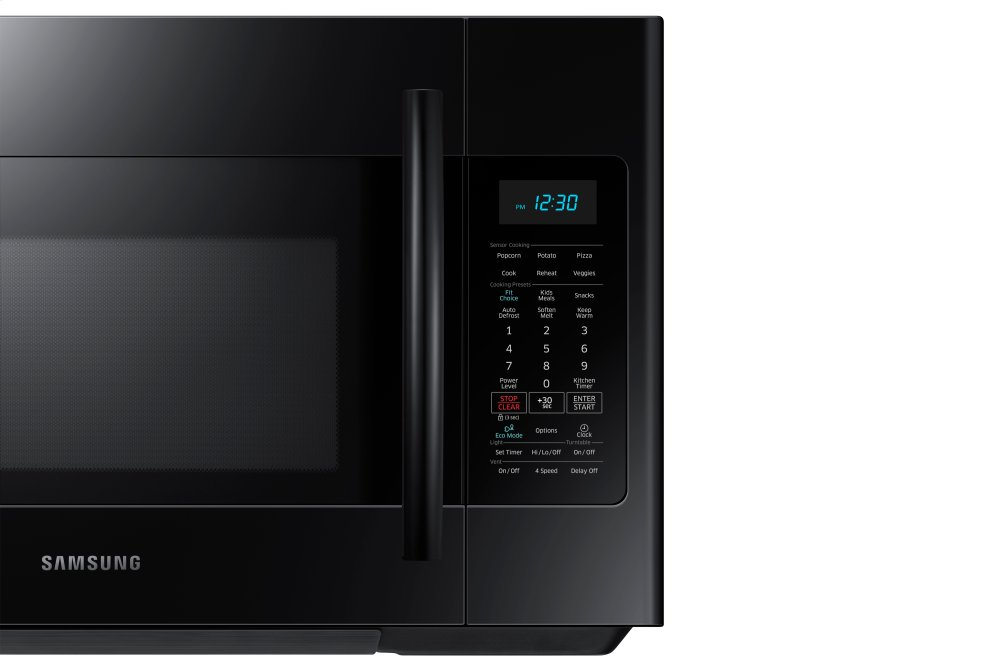 Me18h704sfbsamsung 1 8 Cu Ft Over The Range Microwave With