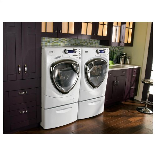GE Profile Series 4.3 DOE cu. ft. stainless steel capacity frontload washer with Steam