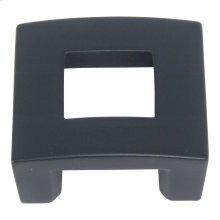 Centinel Square Knob 1 1/4 Inch (c-c) - Matte Black