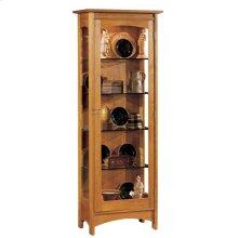 Mirrored Back, Oak Display Cabinet