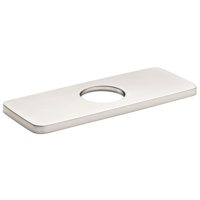"""Brushed Nickel Base Plate for Modern Single-Hole Faucets, 6"""""""