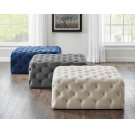 Belham Square Tufted Ottoman Navy 38'' x38''x17''H Product Image