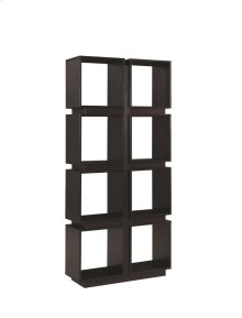 - Four tier, eight shelf bookcase finished in cappuccino- Constructed with MDF, particle board, and engineered veneer- Also available in dark taupe (#801845)