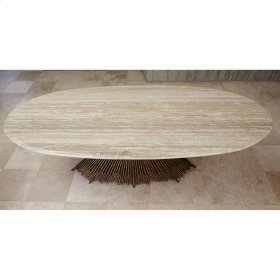 Pick Up Sticks Dining Top - Travertine