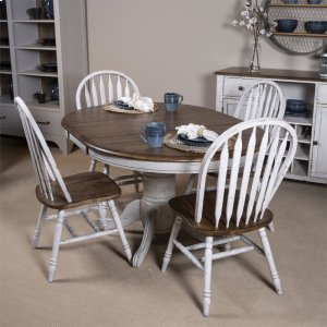 Liberty Furniture Industries5 Piece Pedestal Table Set- White