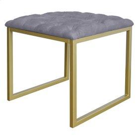 Avril KD End Table, Denim Dove Gray
