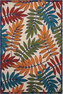 Aloha Alh18 Multicolor Rectangle Rug 5'3'' X 7'5''