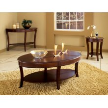 """Troy End Table, 20""""Round (24""""H)"""