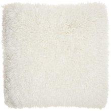 """Shag Tl003 White 20"""" X 20"""" Throw Pillows"""