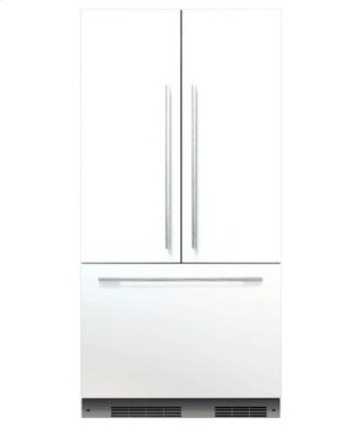 Integrated refrigerator handle kit