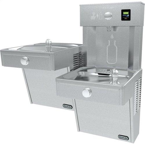 Elkay EZH2O Vandal-Resistant Bottle Filling Station &, Bi-Level Cooler Filtered 8 GPH Stainless