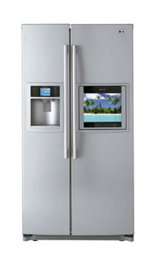 Genial Ft. Total Capacity Side By Side TV REFRIGERATOR With HD Ready LCD Hidden