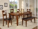 "Figaro Dining Table (1 X 18"" Leaf) 4 Chairs 1 Bench Product Image"