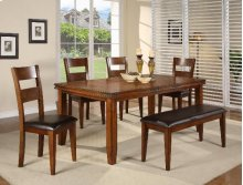 """Figaro Dining Table (1 X 18"""" Leaf) 4 Chairs 1 Bench"""