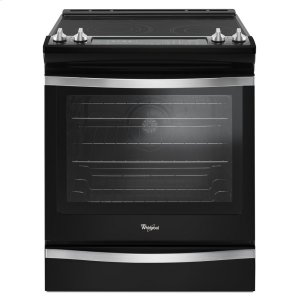 6.4 Cu. Ft. Slide-In Electric Range with True Convection - BLACK ICE