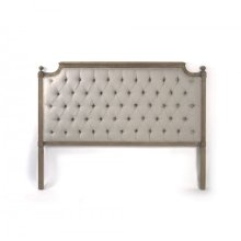Louis Tufted Headboard (Queen, Natural Linen)